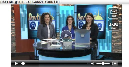 Organizing for the New Year on Daytime @ Nine on KABB Fox 29