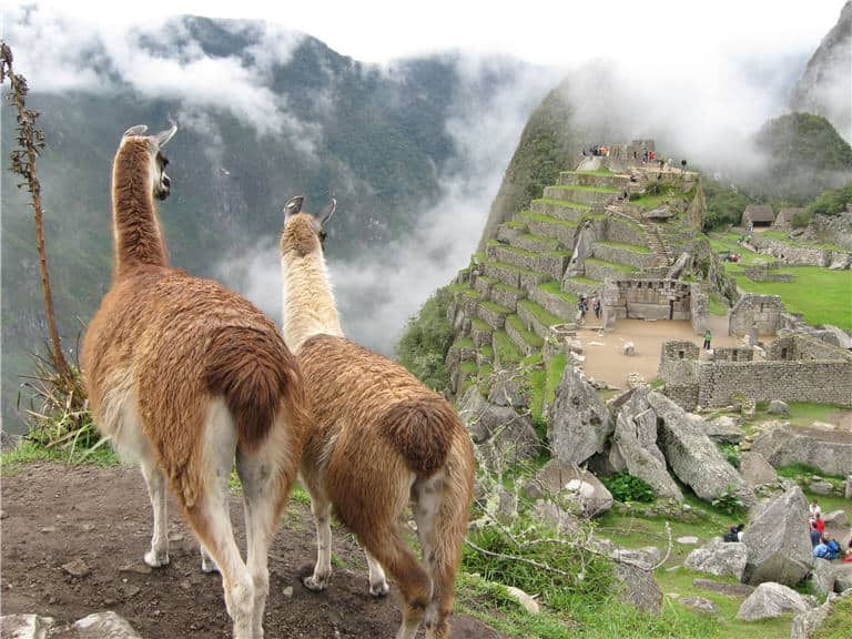 Enjoying the view of Machu Picchu in Peru. Photo by Helene Segura.