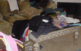 How do you organize your closet when you have clirty clothes?