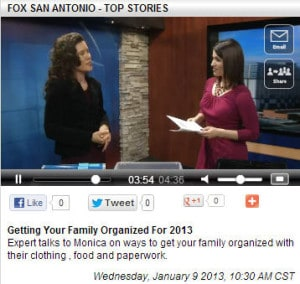 Fox New First - Get Organized in 2013