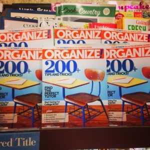 organize - back to school bookazine - cover August 2014